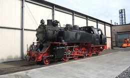 04_Lok unter Dampf im Werksfreigelände nach der Fertigstellung